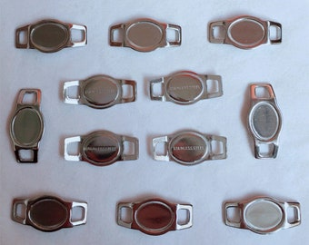 Lot 200 pcs blank oval shoelace charms stainless steel BC19