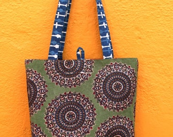 Reversible Handmade Tote Bag ( Free Shipping Any where in the World)
