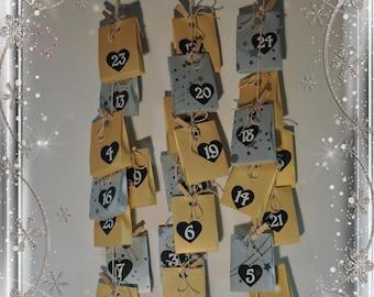 Advent calendar - for christmas - 25 pouches