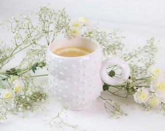 Ceramic Mug / Coffe Cup / Ceramics for Home / Unique Gift / Hand Massager / Modern Ceramics / Handmade Mug / Unique Mug