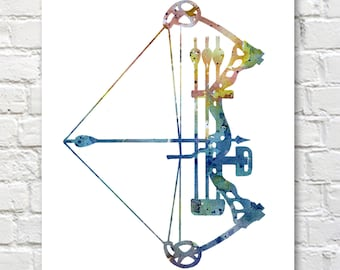 Archery - Art Print - Abstract Watercolor Painting - Wall Decor