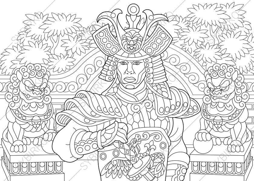 japanese samurai coloring pages - japanese samurai warrior coloring pages coloring book pages