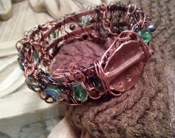 USA Messy Wire-Wrapped Bracelet!!!