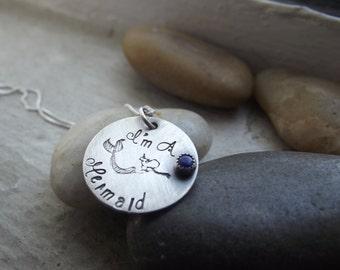 Swimming Mermaid  pendant, Mermaid necklace, Ocean Siren Pendant, Siren of the Sea Pendant, I am a Mermaid, Beach Jewelry, Mermaid Jewelry
