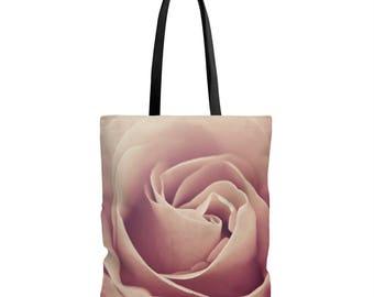 Rose Tote Bag, Pink Flower Tote Bag, Flower Photo Bag, Rose Shoulder Bag, Pink Flower Market tote bag, Canvas Tote Bag, Fine Art Tote Bag