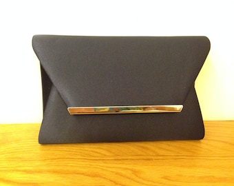 Navy Envelope clutch (WORLDWIDE FREE SHIPPING), Navy clutch, Navy evening bag, Navy bridal clutch, clutch, bags and purses
