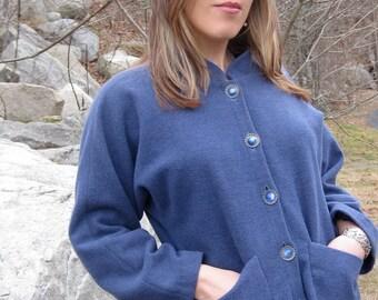 ON SALE/ Copenhagen Blue Boiled Wool Jacket