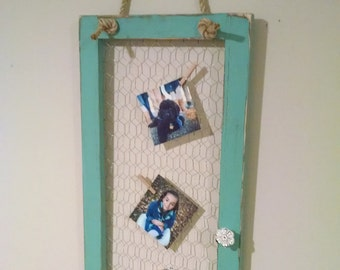 Rustic Chicken Wire Frame, Chicken Wire Message Board, Rustic Wall Decor, Rustic Frame,Country Decor, Distressed Frame, Rustic Wedding