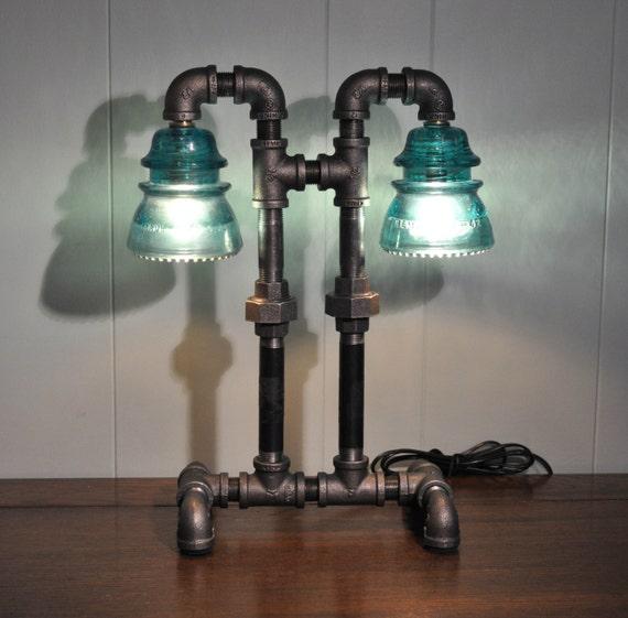 Items Similar To Industrial Lighting: Items Similar To Twin Column Glass Insulator Dual Light
