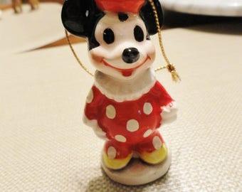 D345)  Vintage Walt Disney Productions Mickey Mouse Clown Ornament