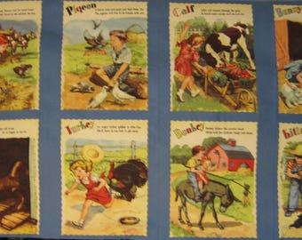 Blue Hill Fabrics Farm Play panel