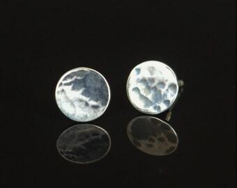 Moon Stud Earrings, Moon Earrings, Silver Moon Earrings, Silver Stud Earrings, Full Moon Earrings, Bohemian Earrings, Sterling Stud Earrings