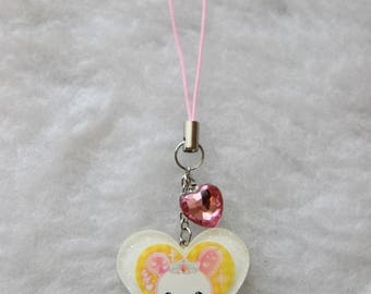 Princess Bunny Phone Charm