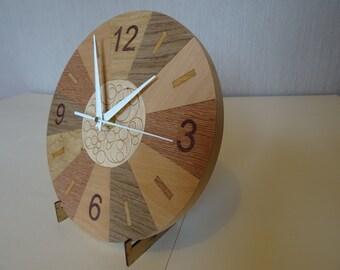 Bubble clock wood