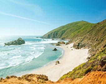 California Dreaming, Coastal, Fine Art Canvas Gallery Wrap, Landscape Photography, Oversized, Pfeiffer Beach Wall Décor
