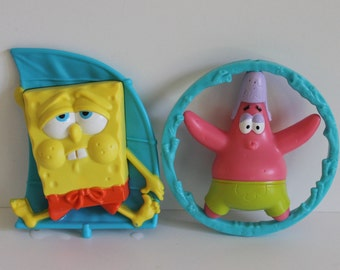 Sponge Bob And Patrick the star figurines,sponge Bob, Patrick, movie props, birthday cake toppers, surprise bags, birthday parties.