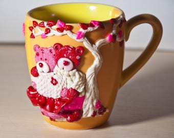 Nice cup with the bears, Author's gift