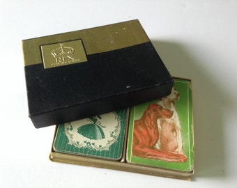 2 Decks of Vintage Playing Cards (Southern Belles and Dogs)