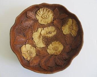 1946 Multi Products Inc. Decorative Bowls, Decorative Platters, Faux Wood Bowls, Rose Bowls, Faux Wood Rose Bowl, Cabin Decor, Cottage Decor