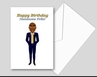 Handsome Fella Birthday Card