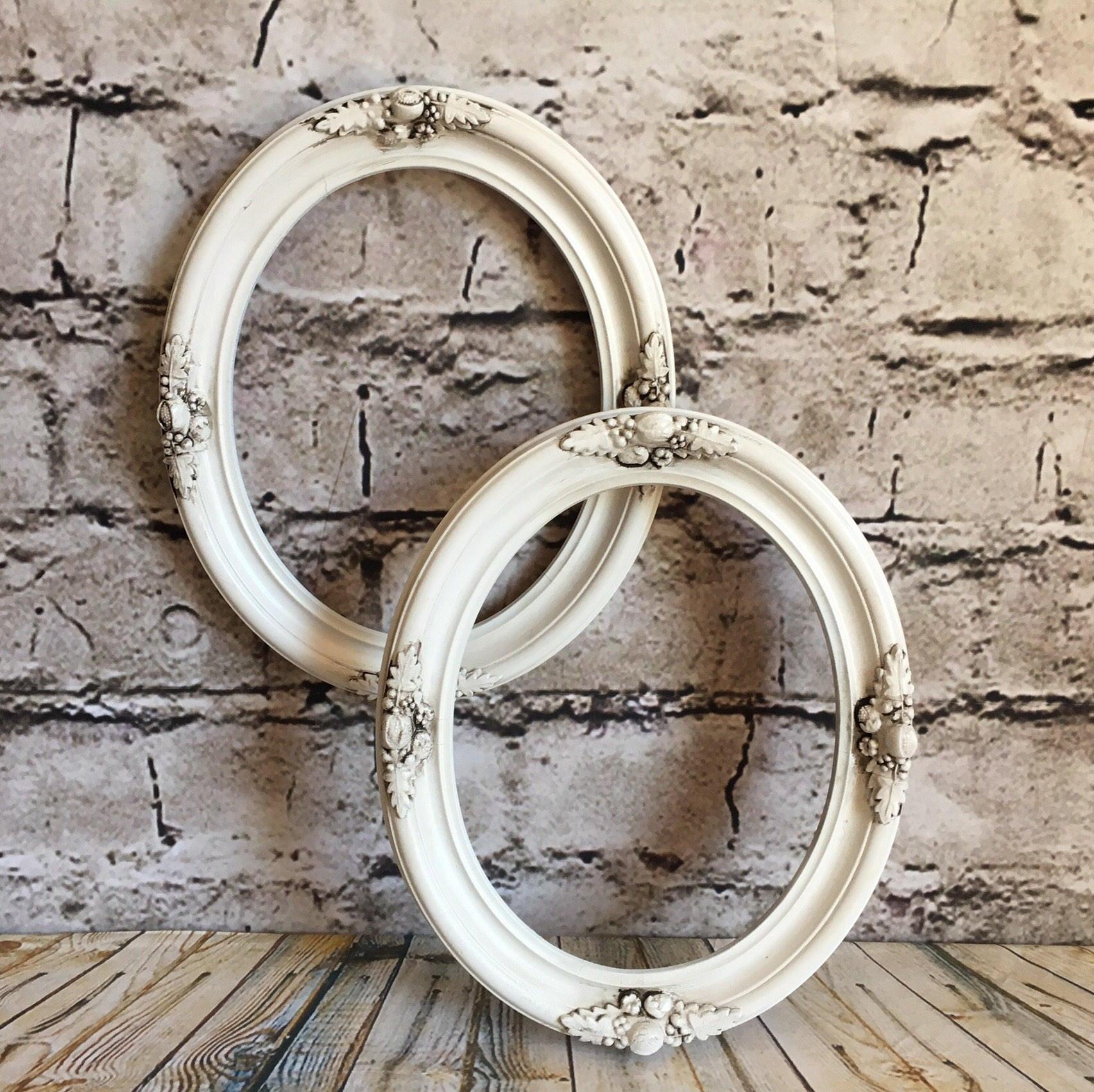 Marcos ovalados, marcos blanco, marcos ovales ornamentales, marcos ...