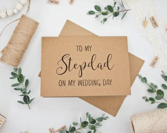 'To my Stepdad on my Wedding Day' 5x7 card