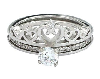 Two in one crown ring