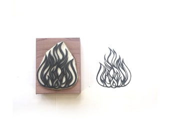 Fire / Flame Rubber Stamp | 007047