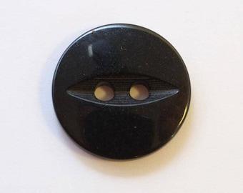 Button 16mm x 20 black 2 holes - 001574 fish eye