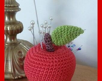 Pincushion, Apple, crochet, Amigurumi plush