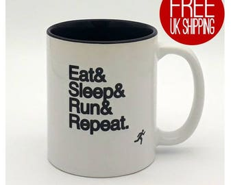 Running Mug - Eat Sleep Run Repeat