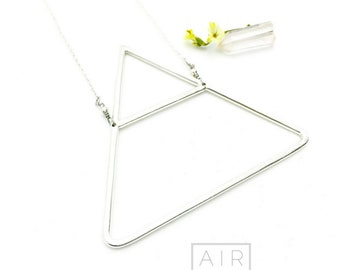 AIR Sterling Silver Triangle Necklace: ALCHEMY® collection