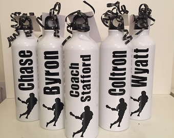 Personalized Aluminum Water Bottle for lacrosse, baseball, team sports, coaches, sports, coaches, cheerleading