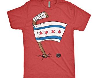 Chicago Blackhawks Chicago Flag T-Shirt