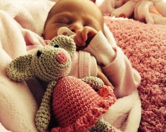 Ballerina mouse doll, Ballerina baby shower, Newborn photo prop, Baby girl gift, Baby girl nursery decor, Plush mouse toy, Stuffed animal