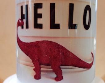 Hello mug, Dinosaur mug