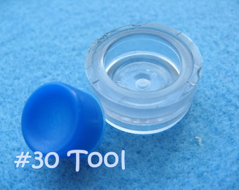 """Cover Button Assembly Tool - Size 30 (3/4"""") diy notion button supplies rubber hand press non machinery"""