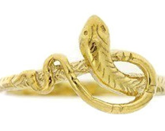 Birdhouse Jewelry  - Gold Short Snake Ring