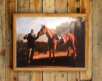 Tony Soprano And Race Horse Painting Original Version Pie-O-My Poster TV Show Prop Pieomy Race Track Pie O My Decor Wall Art Print Gift Idea