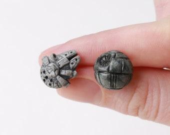 Death Star Earrings Millennium Falcon Star Wars earrings Chewie Porgs Han Solo Accessories Darth Vader Jewelry Star Wars The Last Jedi gift