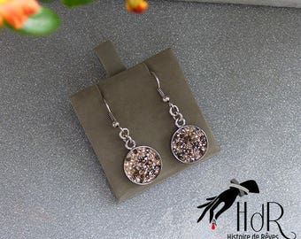 swarovski 15mm silver rhinestone earrings