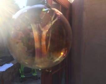 One of a kind fairy garden oeb witch ball witch ball garden accessory
