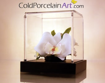 White Orchids - Cold Porcelain Art - Made to Order