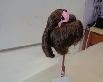 Brown Doll wig- 8 Inch Doll Wig-   - NEW old stock- Vintage doll wig