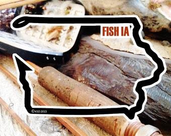 Fish Iowa Sticker - Idahook Series