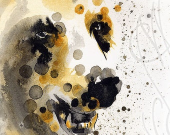 "Martinefa's Original watercolor and Ink ""Bear"""