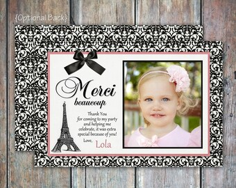 Ooh La La Paris Thank You Card