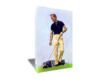 FREE SHIPPING Arnold Palmer The King of Golf Canvas Art