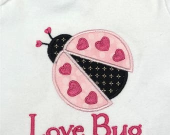 Little Love bug applique shirt