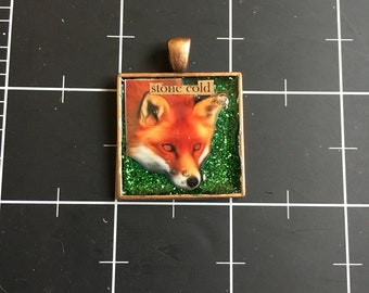 Stone Cold Fox, Woodland Red Fox Pendant, 50% goes to the current focus charity